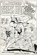 Original Comic Art:Splash Pages, Don Heck and Dick Ayers Avengers #10 Splash Page 1 Original Art (Marvel, 1964)....
