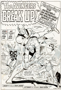 Don Heck and Dick Ayers Avengers #10 Splash Page 1 Original Art (Marvel, 1964)