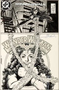 Original Comic Art:Covers, George Pérez Wonder Woman #9 Cover Original Art (DC, 1987)....