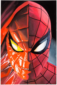 Alex Ross Universe X: Spidey #1 Dynamic Forces Variant Cover Painting Original Art (Marvel, 2001)