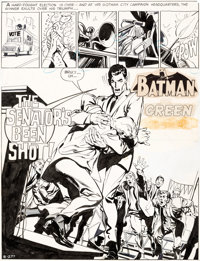 Neal Adams Brave and the Bold #85 Story Page 1 Batman Original Art (DC, 1969)