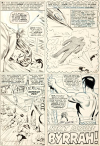 Bill Everett with John Romita Tales To Astonish #89 Story Page 12 Sub-Mariner Original Art Group of 2 (Marvel Comi