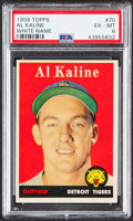 Baseball Cards:Singles (1950-1959), 1958 Topps Al Kaline (White Name) #70 PSA EX-MT 6....