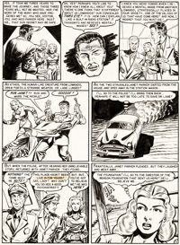 Al Feldstein Weird Science #12 Story Page 5 with Max Gaines Portrait on Reverse Side Origina