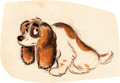 """Animation Art:Concept Art, Lady and the Tramp Early """"Lady"""" Conc..."""