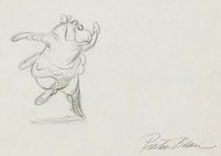 "Fantasia ""Dance of the Hours"" Hyacinth Hippo Animation Drawings Group of 17 (Walt Disney, 1940).... (Total: 17..."
