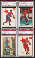 Hockey Cards:Lots, 1954 Parkhurst Hockey Hall of Famers PSA-Graded Collection (4)....