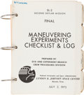"""Explorers:Space Exploration, Skylab II (SL-3) Training-Used NASA Final """"Maneuvering Experiments Checklist & Log"""" Book Directly from the Personal Collec..."""