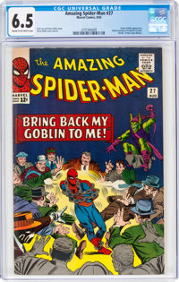 The Amazing Spider-Man #27 (Marvel, 1965) CGC FN+ 6.5 Cream to off-white pages