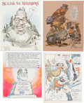 Original Comic Art:Illustrations, Bill Gaines 1987 MAD Trip Book - Switzerland - With Art and Letters from the Usual Gang of Idiots Group of 17 Draw... (Total: 8 Original Art)