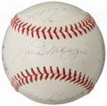 Autographs:Baseballs, Greats & Hall of Famers Multi-Signed Baseball (14 Signatures)....