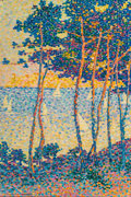 Paintings, Jeanne Selmersheim-Desgrange (French, 1877-1958). Les pins. Oil on canvas. 32 x 21-1/2 inches (81.3 x 54.6 cm). Signed l...