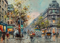 Paintings, Antoine Blanchard (French, 1910-1988). Théâtre du Vaudeville. Oil on canvas. 13 x 18 inches (33.0 x 45.7 cm). Signed low...