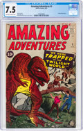 Silver Age (1956-1969):Horror, Amazing Adventures #3 (Marvel, 1961) CGC VF- 7.5 Off-white to white pages....