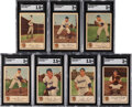 Baseball Cards:Sets, 1953 Glendale Meats Tigers Near Set (20/28) with 3 Extras. ...