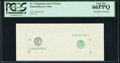 Error Notes:Missing Face Printing (100%), Fr. ?-E $1 ? Federal Reserve Note. PCGS Gem New 66PPQ.. ...