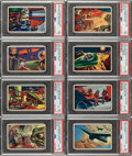 """Non-Sport Cards:Sets, 1951 Bowman """"Jets, Rockets and Spacemen"""" Complete Set With Extended Series (108+36) Plus Wrapper. ..."""