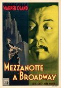 "Movie Posters:Mystery, Charlie Chan on Broadway (20th Century Fox, Late 1930s). Very Fine on Linen. Italian Foglio (27.5"" X 39.5"").. ..."