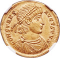 Ancients:Roman Imperial, Ancients: Constans, as Augustus (AD 337-350). AV solidus (22mm, 4.51 gm, 6h). NGC MS 5/5 - 4/5....