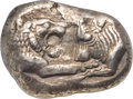 Ancients:Greek, Ancients: LYDIAN KINGDOM. Croesus (561-546 BC). AR stater (21mm, 10.66 gm). NGC Choice XF 5/5 - 3/5, scuff....
