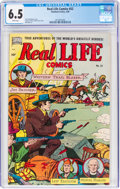 Golden Age (1938-1955):Non-Fiction, Real Life Comics #52 (Nedor Publications, 1950) CGC FN+ 6.5 White pages....