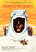 "Movie Posters:Academy Award Winners, Lawrence of Arabia (Columbia, 1963). Folded, Fine+. German A1 (23.25"" X 33""). . ..."