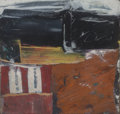 Works on Paper, Alfred Leslie (b. 1927). Untitled, 1959. Mixed media with collage on board. 9-1/4 x 9-1/4 inches (23.5 x 23.5 cm). Signe...