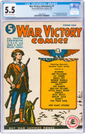 Golden Age (1938-1955):Miscellaneous, War Victory Adventures #1 (Harvey, 1942) CGC FN- 5.5 Cream to off-white pages....