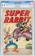 Golden Age (1938-1955):Funny Animal, Super Rabbit #4 (Timely, 1945) CGC FN- 5.5 Cream to off-white pages....