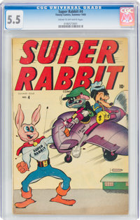 Super Rabbit #4 (Timely, 1945) CGC FN- 5.5 Cream to off-white pages