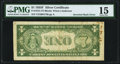 Inverted Back Error Fr. 1615 $1 1935F Silver Certificate. PMG Choice Fine 15
