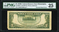 Inverted Back Error Fr. 1963-C $5 1950B Federal Reserve Note. PMG Very Fine 25