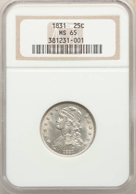 1831 25C Small Letters, MS 65 NGC