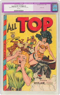 All Top Comics #14 (Fox Features Syndicate, 1948) CGC Apparent VG 4.0 Slight (P) White pages