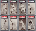 Baseball Cards:Singles (Pre-1930), 1962 Exhibit Stat Backs Black and Red Complete Sets (2). ...