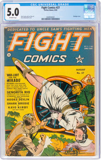 Fight Comics #27 (Fiction House, 1943) CGC VG/FN 5.0 Off-white pages