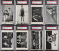 Boxing Cards:General, 1911 & 1912 Max Rigot Hackenschmidt & Gotch Wrestling Post Cards PSA-Graded Collection (15). ...