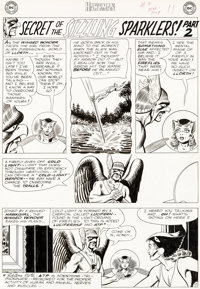 "Murphy Anderson Hawkman #2 ""Secret of the Sizzling Sparklers!"" Part 2 Hawkgirl Original Art Group of 5 (DC, 19..."