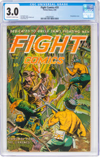 Fight Comics #31 (Fiction House, 1944) CGC GD/VG 3.0 Off-white to white pages