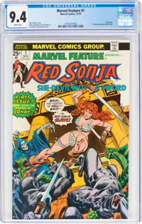 Marvel Feature (2nd Series) #1 Red Sonja (Marvel, 1975) CGC NM 9.4 White pages