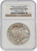 Explorers:Space Exploration, Apollo 13 Unflown PF65 Ultra Cameo NGC Silver Franklin Mint Medal, Serial Number 0025, Originally from the Personal Collection...