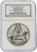 Explorers:Space Exploration, Space Shuttle Columbia (STS-1) Flown Silver Robbins Medallion, Serial Number 95F, Originally from the Personal Col...