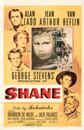 "Movie Posters:Western, Shane (Paramount, 1953). Fine/Very Fine on Linen. One Sheet (27"" X 41.5""). Ercole Brini Artwork.. ..."