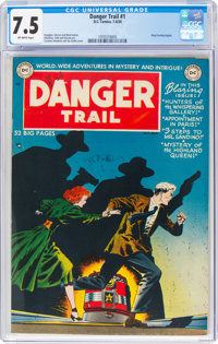 Danger Trail #1 (DC, 1950) CGC VF- 7.5 Off-white pages