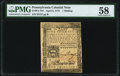 Colonial Notes:Pennsylvania, Pennsylvania April 3, 1772 1s PMG Choice About Unc 58.. ...