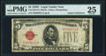 Error Notes:Gutter Folds, Gutter Fold Error Fr. 1528 $5 1928C Legal Tender Note. PMG Very Fine 25.. ...