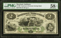 Obsoletes By State:Maryland, Salisbury, MD- Somerset and Worcester Savings Bank $2 Nov. 1, 1862 PMG Choice About Unc 58 EPQ.. ...