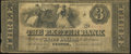 Obsoletes By State:New Hampshire, Exeter, NH- Exeter Bank $3 Dec. 3, 1855 Very Good-Fine.. ...