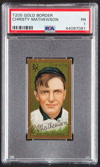 1911 T205 Polar Bear Christy Mathewson PSA Poor 1