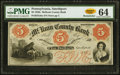 Obsoletes By State:Pennsylvania, Smethport, PA- Mc Kean County Bank $5 185_ Remainder PMG Choice Uncirculated 64.. ...